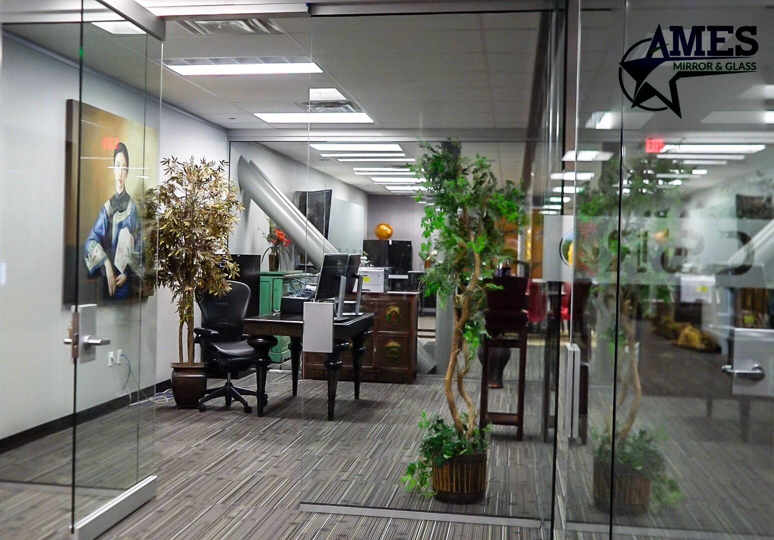 Custom Glass Doors And Partition - Commercial Glass Work