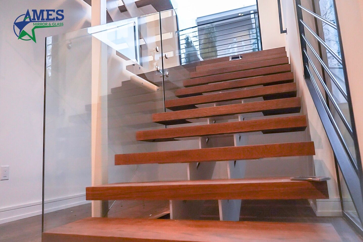 Glass Stair Case Railings and Balusters