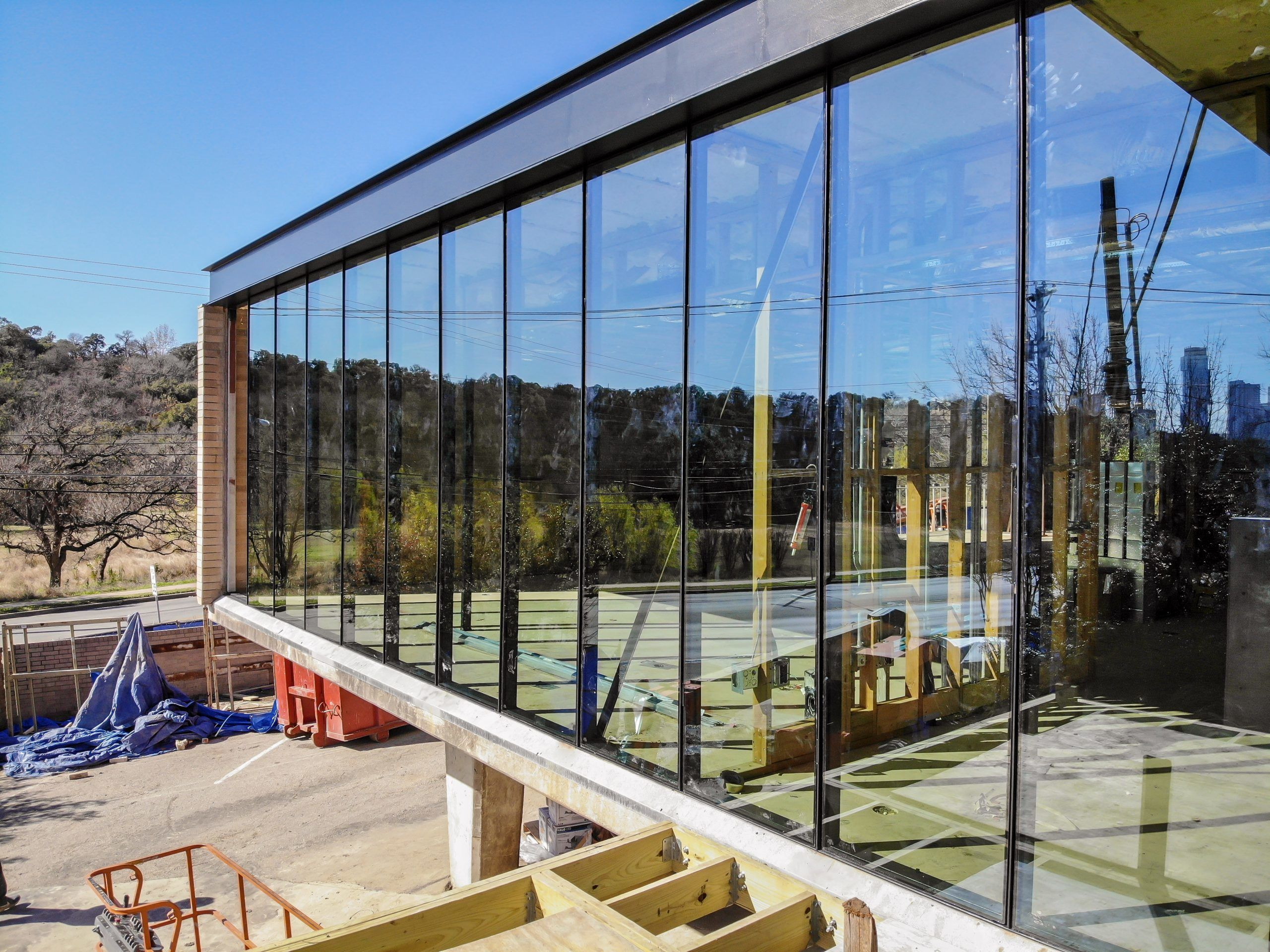 Commercial Glass Window Installation - Office