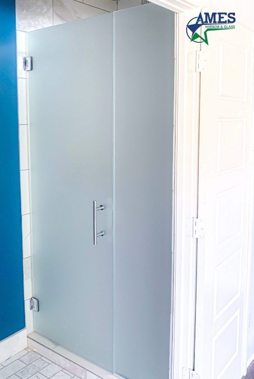 Frosted Glass Shower Door Installation